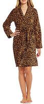 Lauren Ralph Lauren So Soft Leopard-Print Fleece Robe