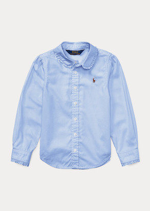 Ralph Lauren Ruffled Cotton Oxford Shirt