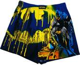 Briefly Stated Batman City Scene Men's Boxer Shorts, Royal/Yellow
