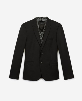 The Kooples Formal black jacket in wool with scarf