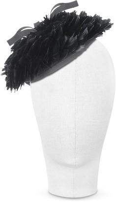 Nana Bonnie - Black 50's Feather Hat