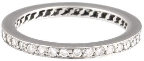 Cartier Platinum Diamond Eternity Band Ring Size 5.25