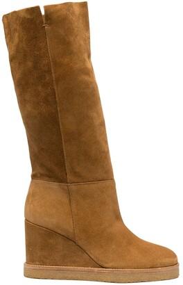 BA&SH Slip-On Wedge Heel Boots