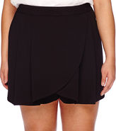 Boutique + Boutique+ Wrap-Front Skort - Plus