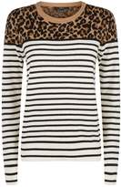 SET Leopard Stripe Sweater