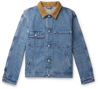 Polo Ralph Lauren Corduroy-Trimmed Denim Jacket