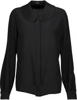 Raoul Shaza pleated washed-silk blouse