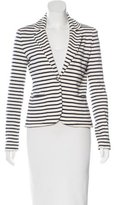 Tory Burch Striped Button-Up Blazer