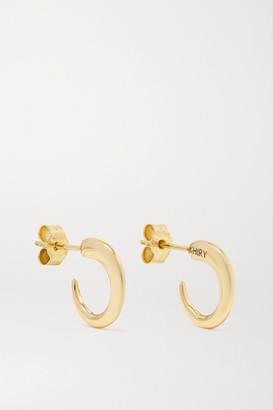 KHIRY Fine - Tiny Khartoum 18-karat Gold Hoop Earrings - one size