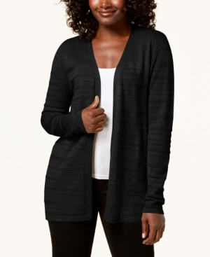 Karen Scott Plus Size Pointelle Cardigan, Created for Macy's