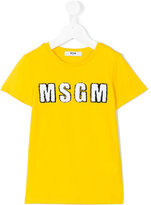 MSGM embroidered logo T-shirt - kids - Cotton - 4 yrs