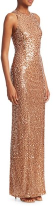Galvan Sequin Bodycon Gown