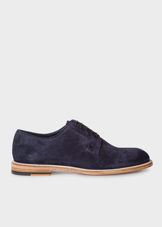 Paul Smith Men's Dark Navy Suede Leather 'Gale' Derby Shoes