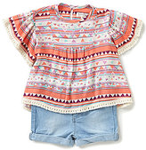 Jessica Simpson Baby Girls 12-24 Months Printed Top & Denim Short Set