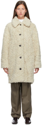 Low Classic Off-White Faux-Fur Jacket