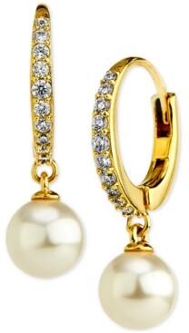 Eliot Danori Cubic Zirconia & Imitation Pearl Drop Earrings, Created for Macy's