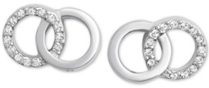 Olivia Burton Swarovski Crystal Interlocking Ring Stud Earrings