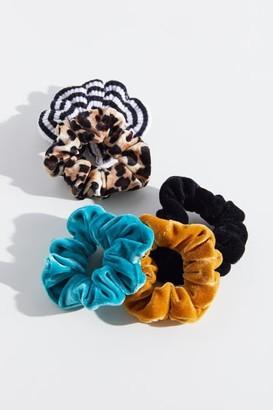 Urban Outfitters Velvet Scrunchie Set