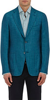 Isaia MEN'S HERRINGBONE WOOL-BLEND TWO-BUTTON SPORTCOAT-GREEN SIZE 46