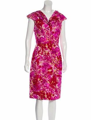 Christian Dior Silk Midi Dress Magenta