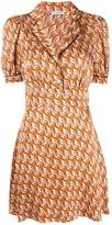 Sandro Paris cat print shirt dress