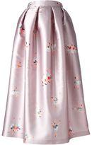 Rochas ballerina print full skirt