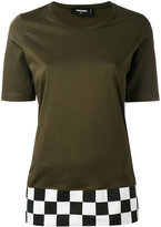 DSQUARED2 checkered hem T-shirt - women - Cotton - XS