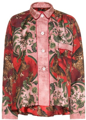 F.R.S For Restless Sleepers Ipno printed silk pajama top