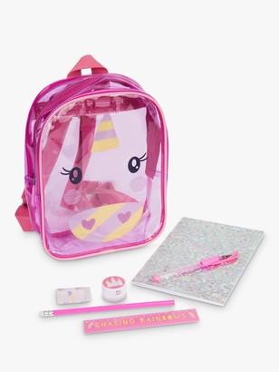 Sunnylife Children's Unicorn Stationery Backpack, Pink
