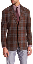 Peter Millar The Napoli Mahogany Plaid 2 Button Notch Lapel Jacket