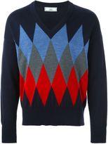 Ami Alexandre Mattiussi argyle patterned jumper