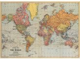 Cavallini & Co. World Map Wrapping Paper/Poster