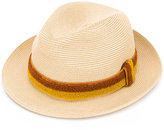 Fendi hat with appliqué - men - Straw - M