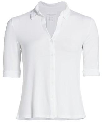 Majestic Filatures Elbow-Sleeve Shirt