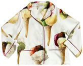 Dolce & Gabbana Ice Cream Printed Silk Twill Pajama Top