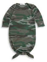 Baby's Knotty Camo Knotted Bottom Sleeper Bodysuit