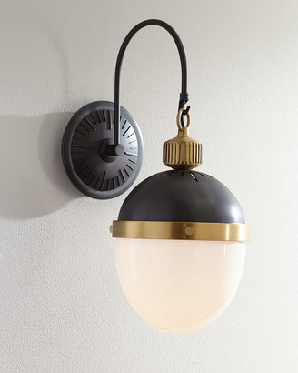 REGINA ANDREW Blackened and Natural Brass Otis Sconce