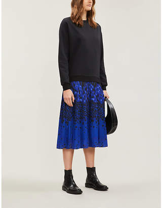 Ted Baker Leopard print sweatshirt maxi dress