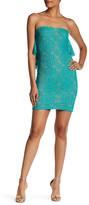 Dress the Population Lisa Strapless Lace Minidress