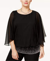 MSK Plus Size Embellished Chiffon Blouse