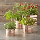 Copper Round Ribbed Planter