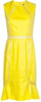 Lela Rose fitted lace inset dress