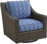 Tommy Bahama Cypress Point Ocean Terrace Swivel Patio Chair with Sunbrella Cushions Outdoor