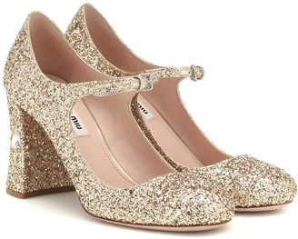 Miu Miu Sequined Mary Jane pumps