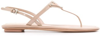 Prada Thong Strap Flat Sandals