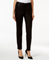 Alfani Petite Textured Pull-On Skinny Pants, Only at Macy's