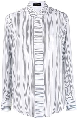 Piazza Sempione Striped-Print Long-Sleeved Shirt