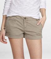 Express 2 Inch Rolled Hem Stretch Cotton Shorts