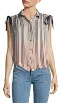 Free People Striped Button-Front Shirt