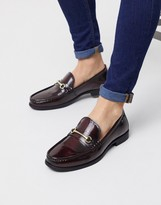 Ben Sherman leather loafer in red